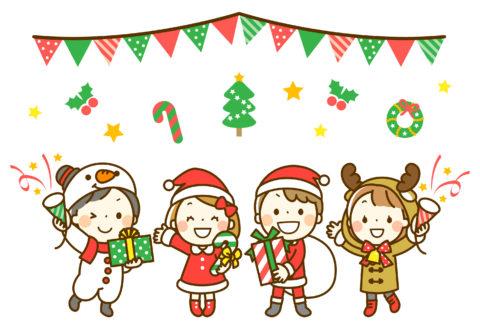 子供たちのクリスマスパーティ by イラストAC