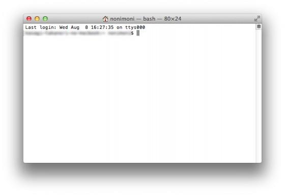Mac ターミナル初期画面