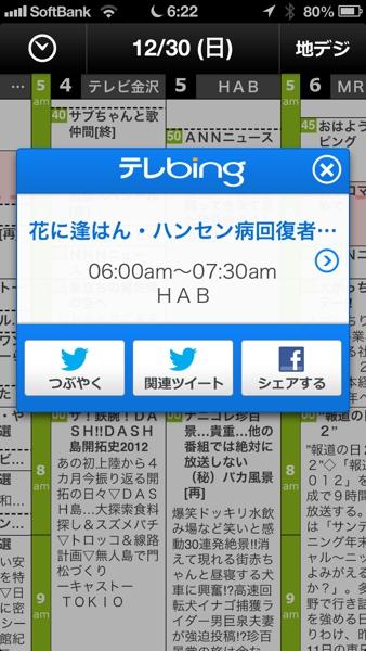 iPhone App テレBing