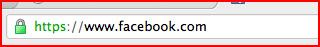 SSL通信で接続中のアドレスバー https ではじまる