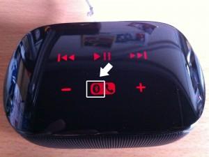 Mini Boombox本体のBluetoothペアリングボタン