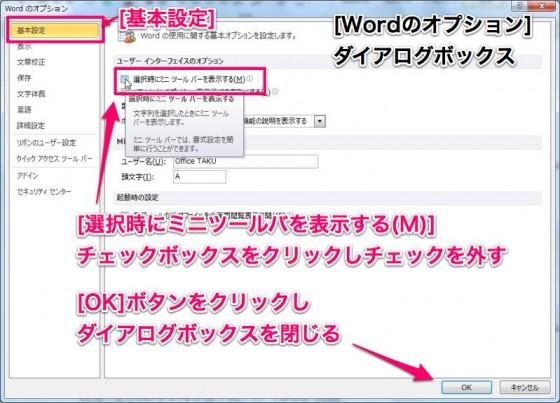 Word2010[オプション]ダイアログボックス