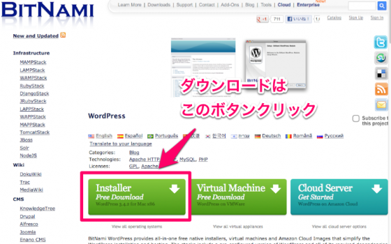 BitNami WordPress Satck
