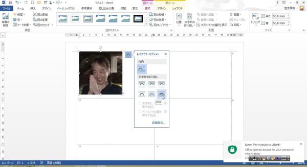 Office2013[オンライン画像]挿入