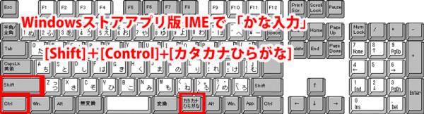 Windows8 アプリ版IME かな切替ショートカットキー