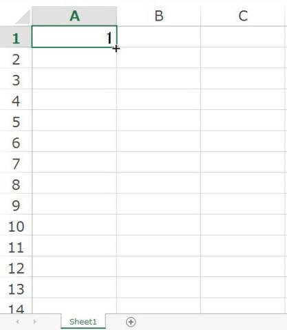 Excel2013 オートフィルオプションを利用した連番