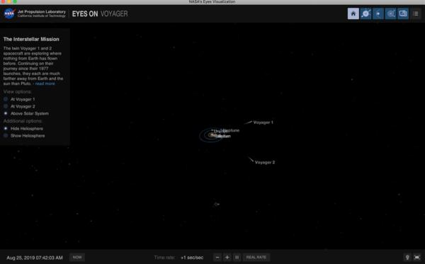 NASAのボイジャーアプリ