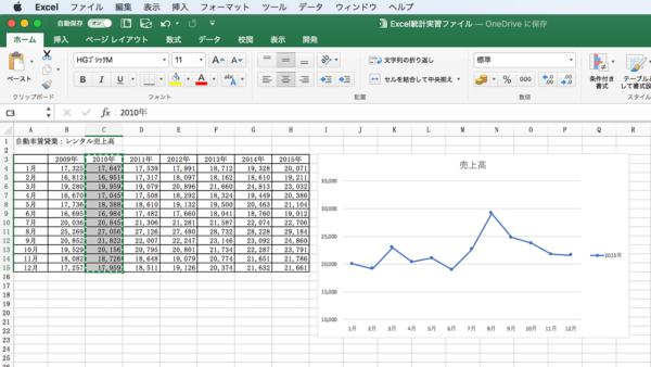 Excel グラフに追加