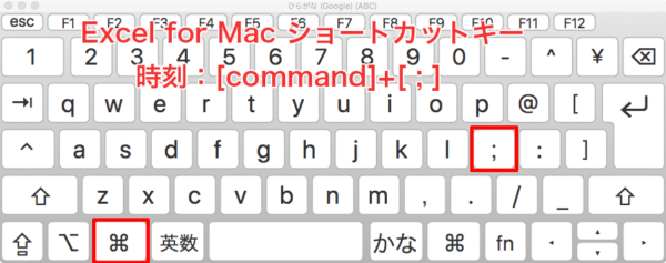 Excel-shortcut-Mac 時刻