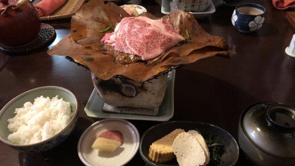 萬代角店『飛騨牛ほおばみそ定食』2018/11/17