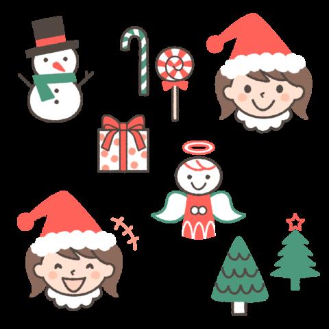 クリスマスのイラスト(女の子ver.) by  フリーラ