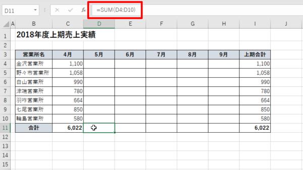 Excel セルに数式が入っているが0は表示されない