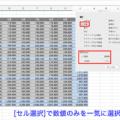 [Excel] 数式や項目名以外のセルの値を一気に削除する