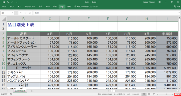 Excel表示倍率