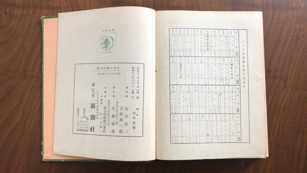 吉野源三郎『君たちはどう生きるか』新潮社、昭和十二年八月十日発行