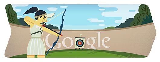 Google Doodle ロンドンオリンピック アーチェリー 2012/7/28
